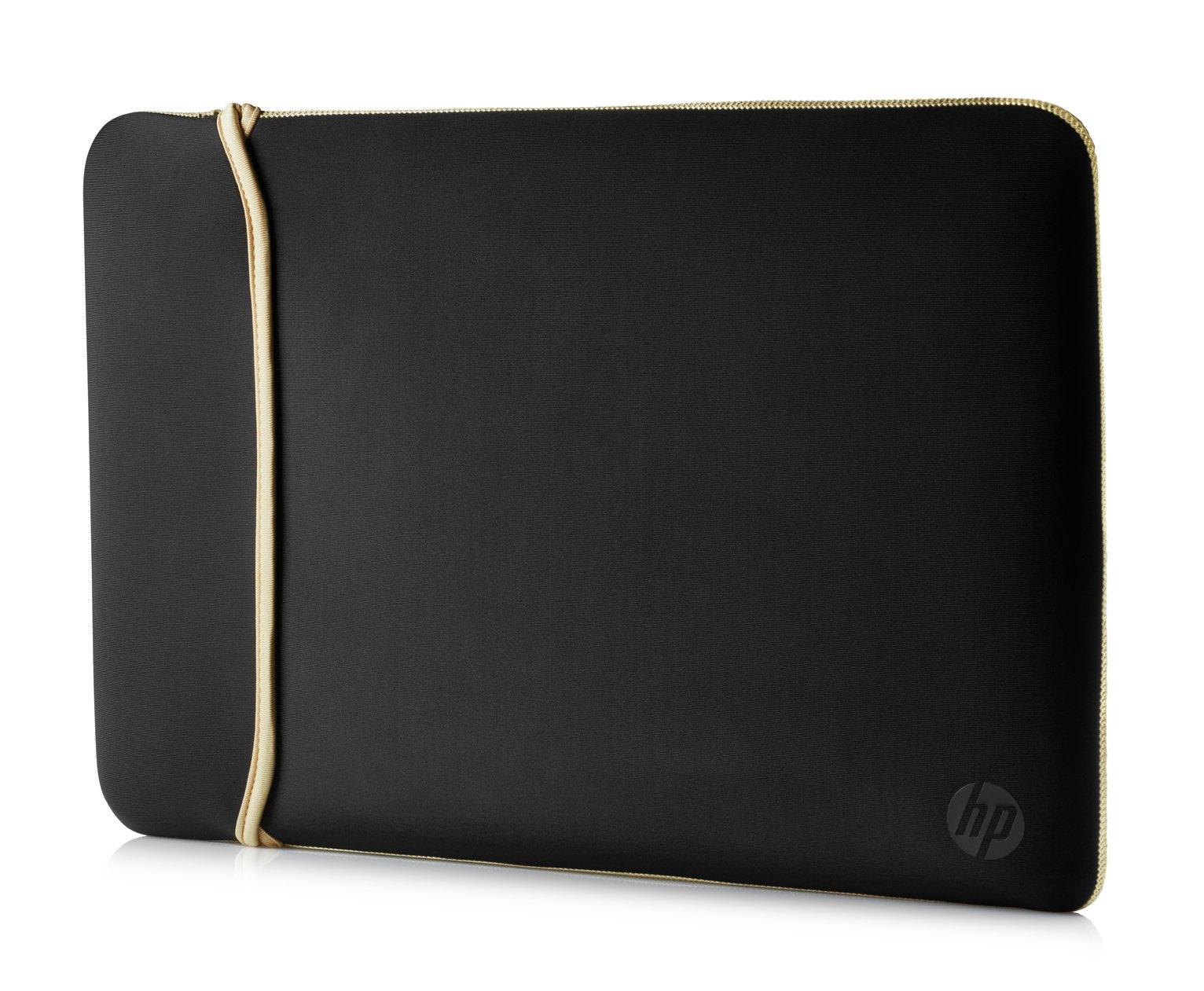 HP 14 Inch Reversible Laptop Sleeve - Gold & Black