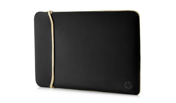 HP 15.6 Inch Reversible Laptop Sleeve - Gold and Black