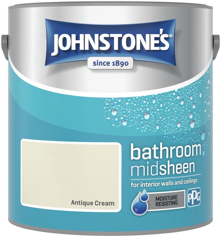 Johnstone's Bathroom Emulsion Paint 2.5L - Antique Cream