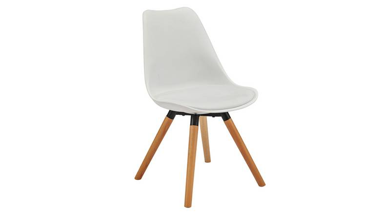 Argos Home Charlie Faux Leather Dining Chair - White