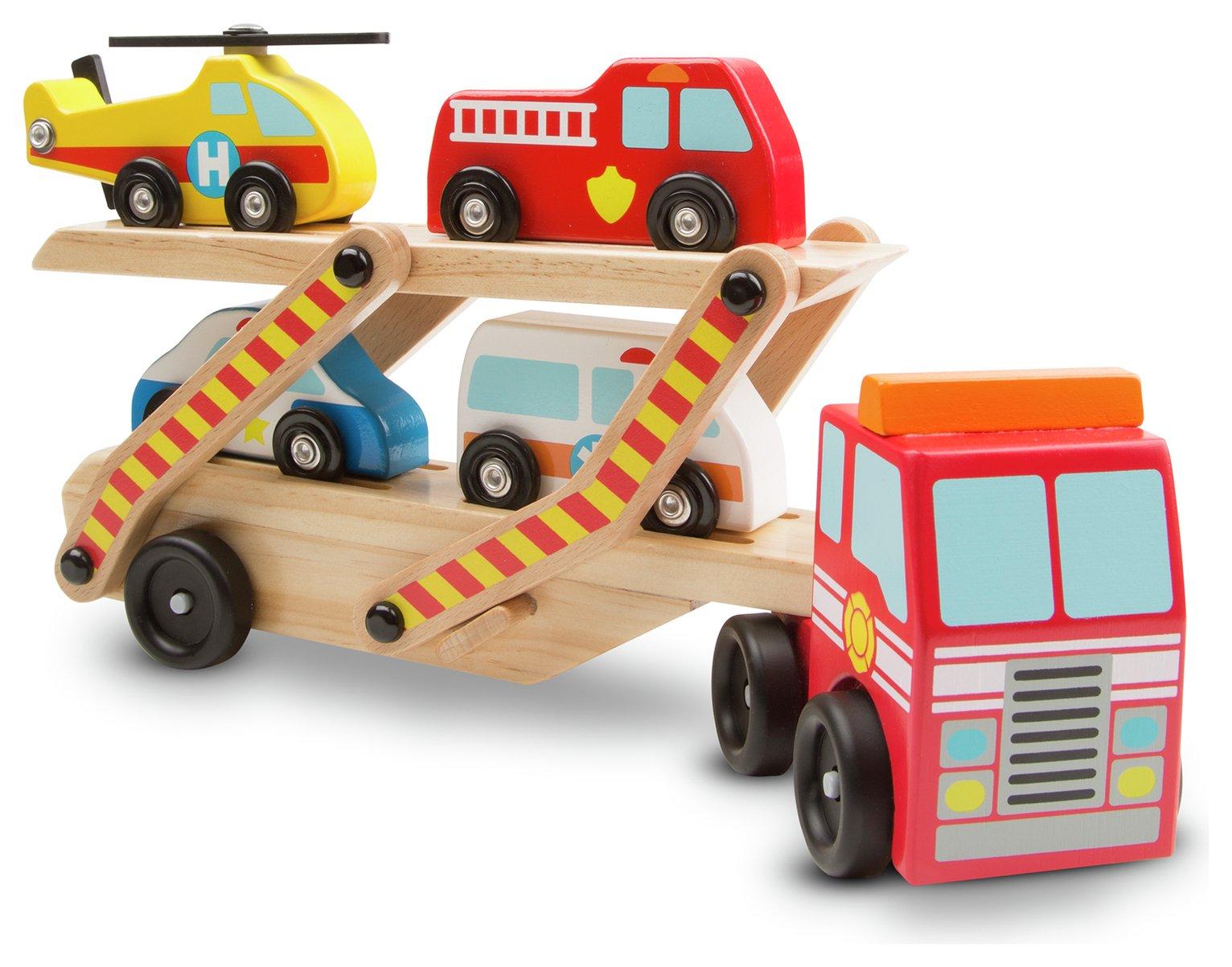 Melissa & doug Wooden Emergency Vehicle Carrier