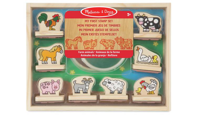 Melissa & Doug My First Wooden Farm Stamp Set