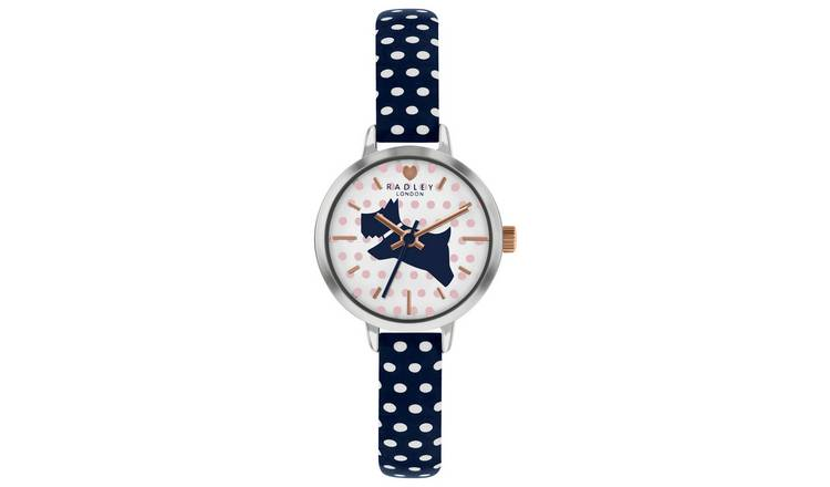 Radley Ladies Polka Dot Leather Strap Watch