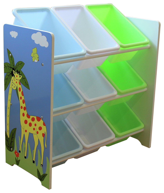Liberty House Safari Storage Unit with 9 Plastic Bins