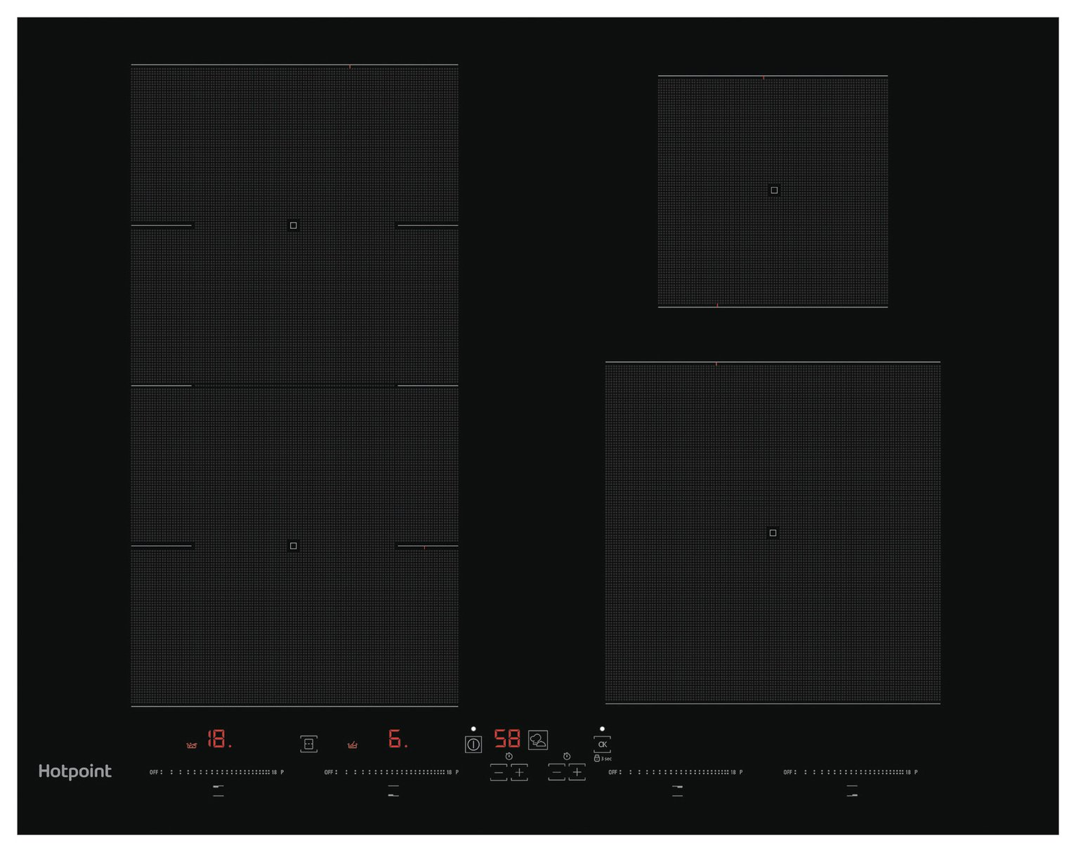 Hotpoint ACC654FNE Electric Induction Hob - Black