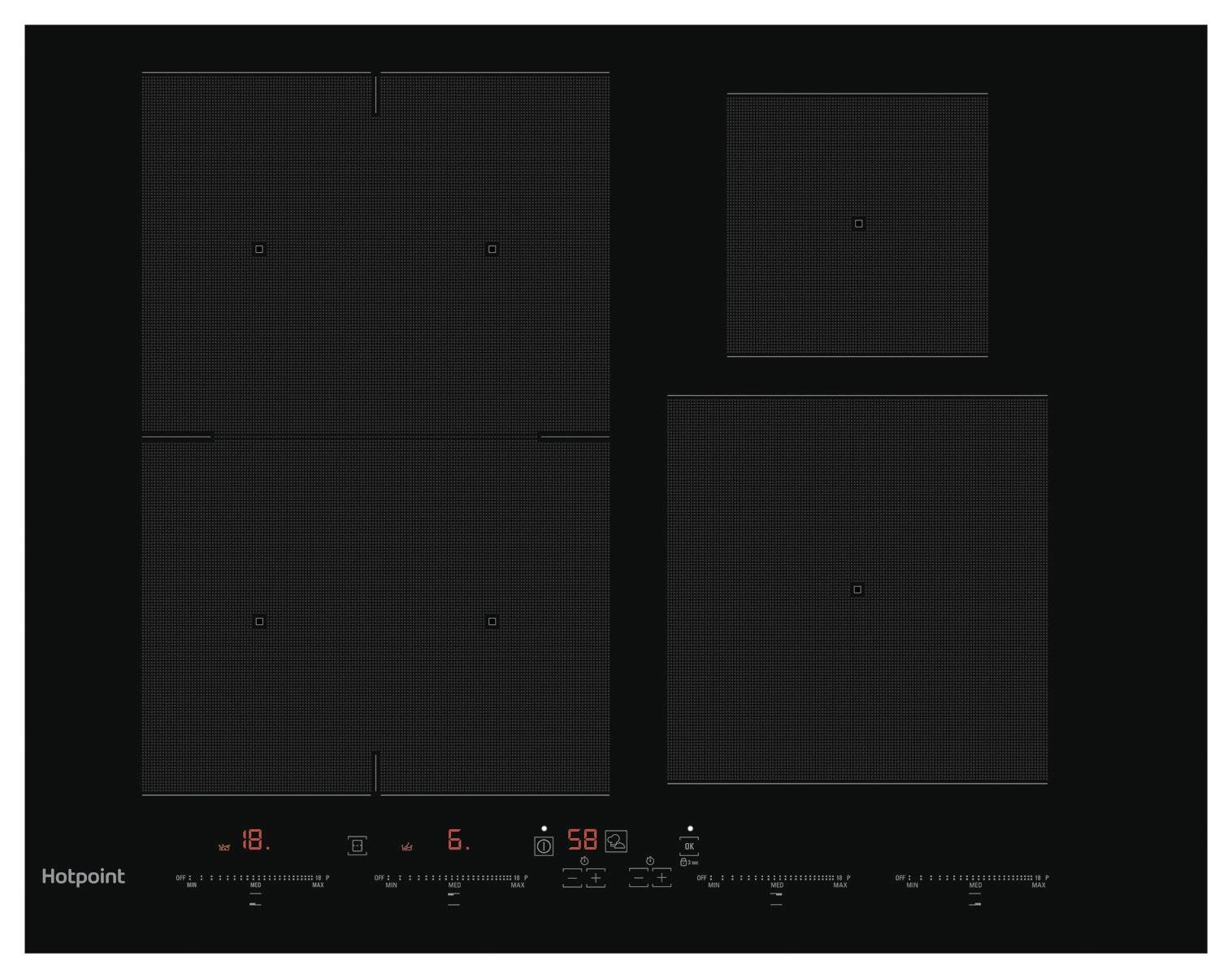 Hotpoint ACC654NE Electric Induction Hob - Black
