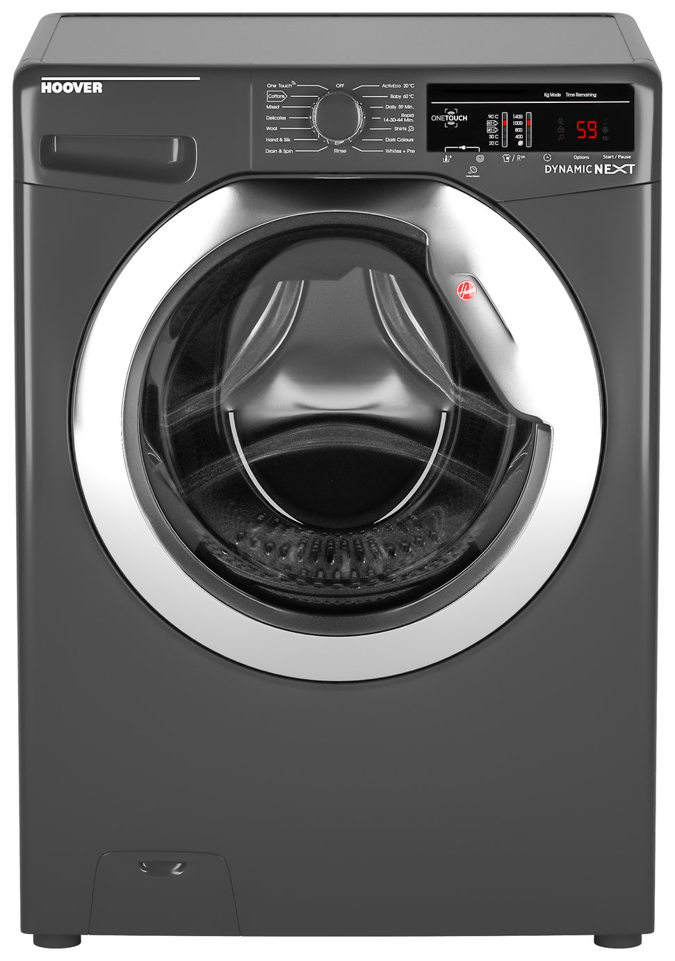 Hoover DXOA 48C3R 8KG 1400 Spin Washing Machine - Graphite