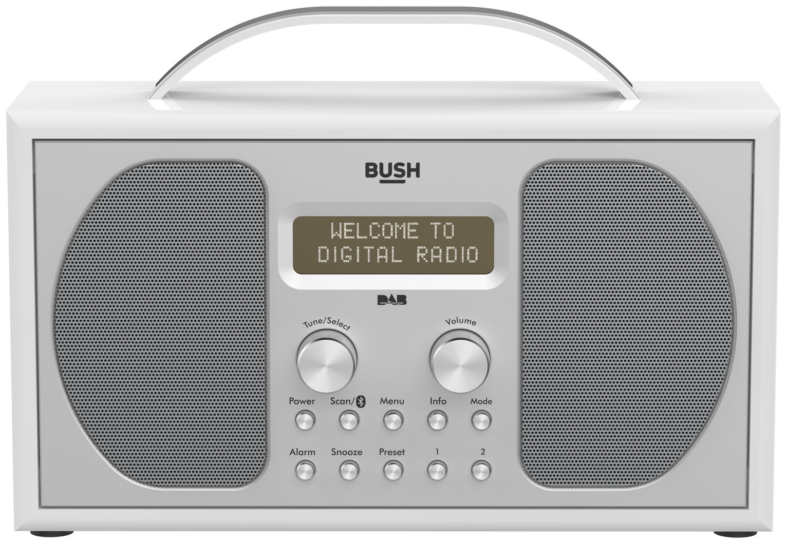 Bush Stereo DAB Radio - Piano Gloss White