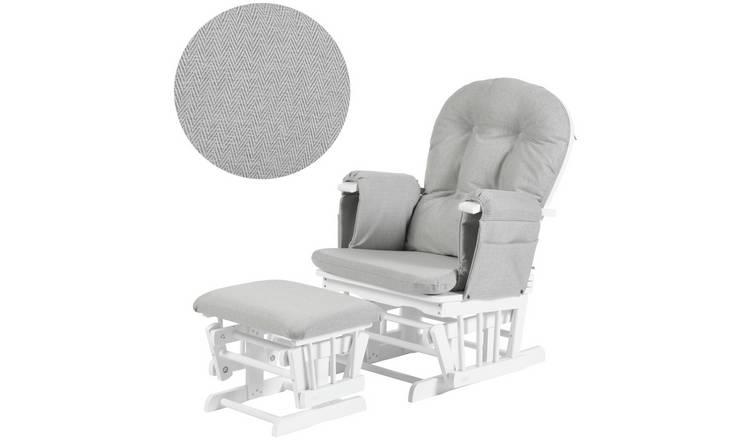 size 40 cef0e 2bcae Buy Kub Haywood Glider and Footstool - White | Nursing chairs and  footstools | Argos