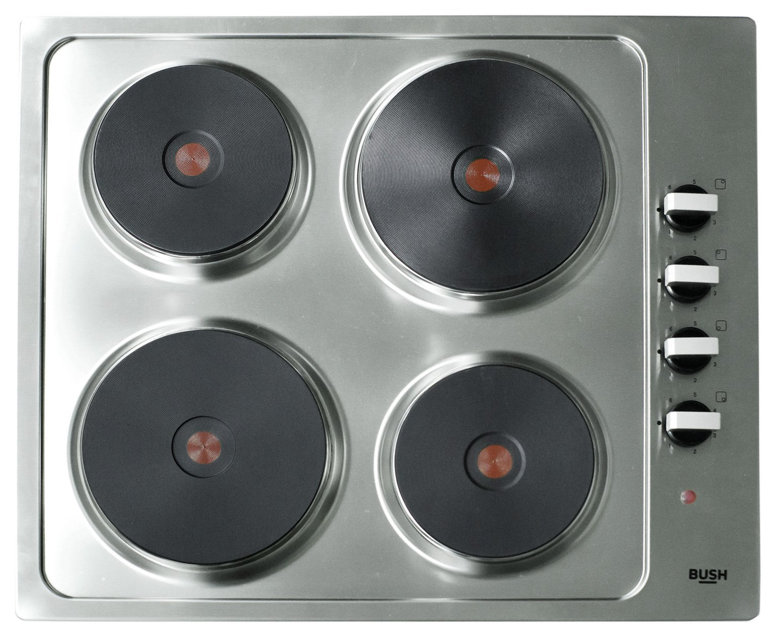 Bush RL60SPH Electric Solid Plate Hob - Stainless Steel