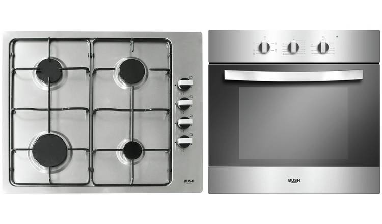 Bush LSBGHP Built In Electric Oven with Gas Hob Pack