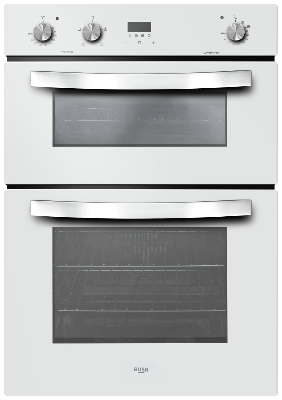 Bush LSBWDFO Built In Double Electric Oven - White