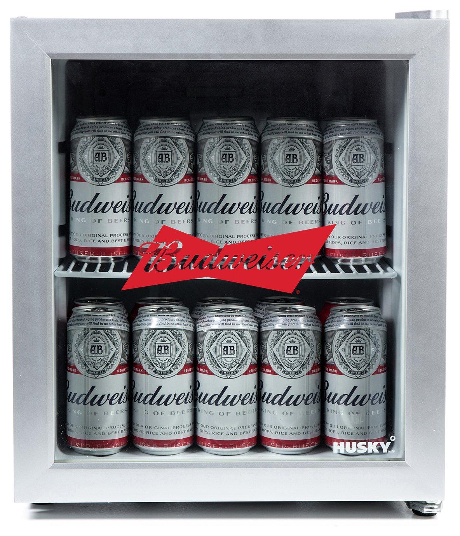 Husky Budweiser 48 Litre Drinks Cooler - Silver