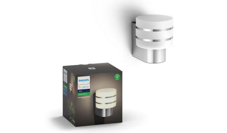 Philips Hue Tuar Wall Lantern - Stainless Steel