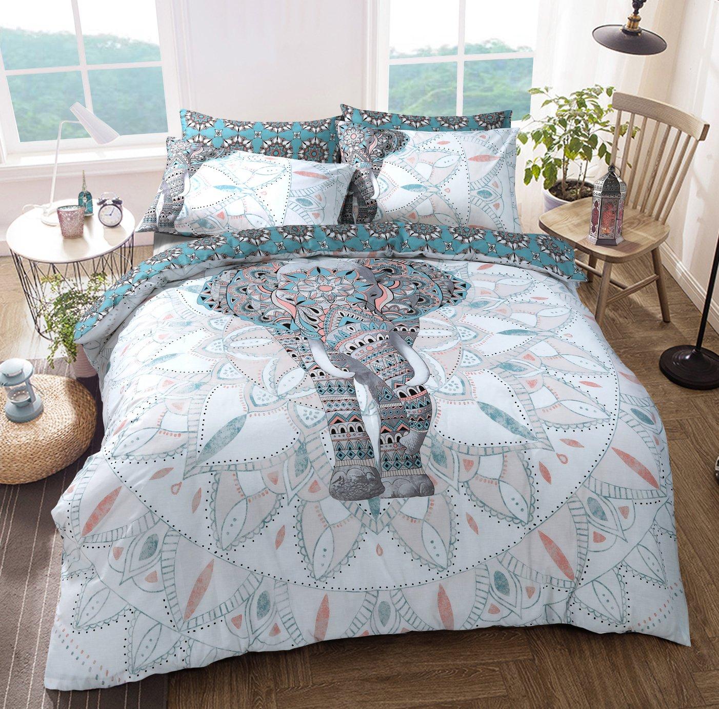 Argos Home Elephant Mandala Bedding Set - Double