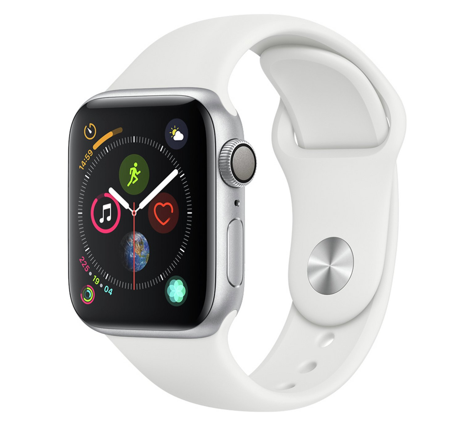 Apple Watch S4 GPS 40mm - Silver Aluminum / White Band