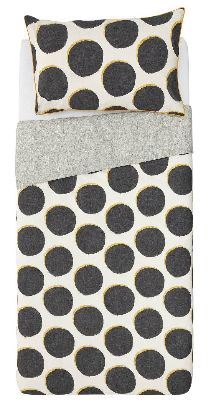 Argos Home Spot Printed Bedding Set - Single