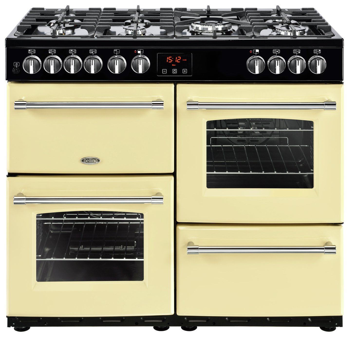 Belling Farmhouse 100DFT Dual Fuel Range Cooker - Cream