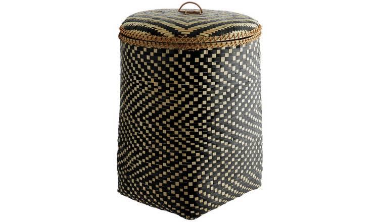 dca3e52f7b7 Buy Habitat Idaho Black Bamboo Weave Laundry Bin