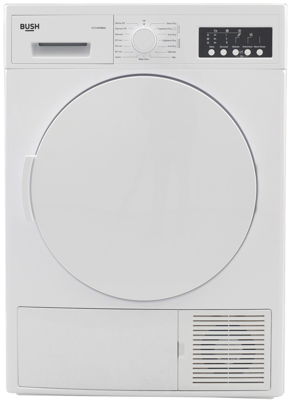 Bush TD7HPNBW 7KG Heat Pump Tumble Dryer - White