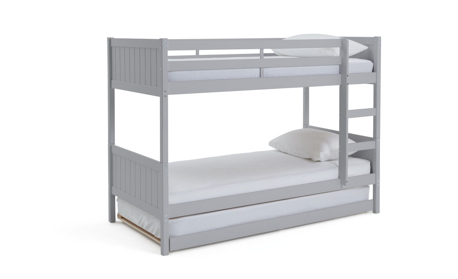 Argos Home Detachable Grey Bunk Bed, Trundle & 3 Mattresses