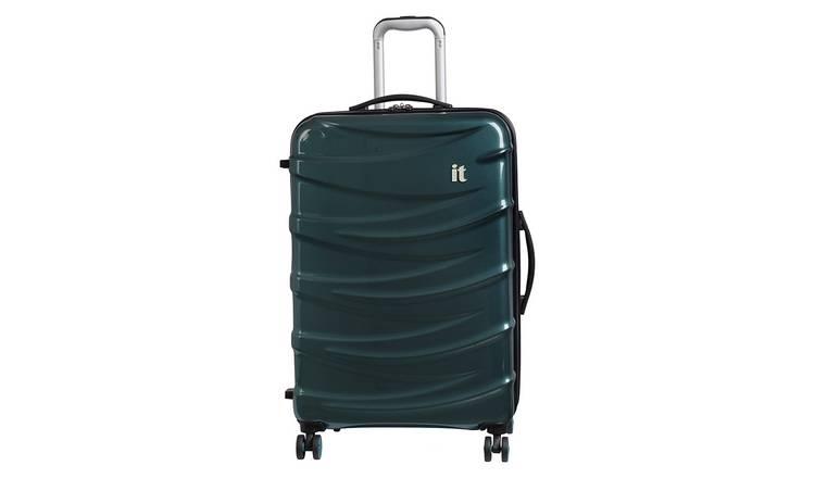 01e643ac0 IT Luggage Medium 8 Wheel Expandable Suitcase - Turquoise863/2432