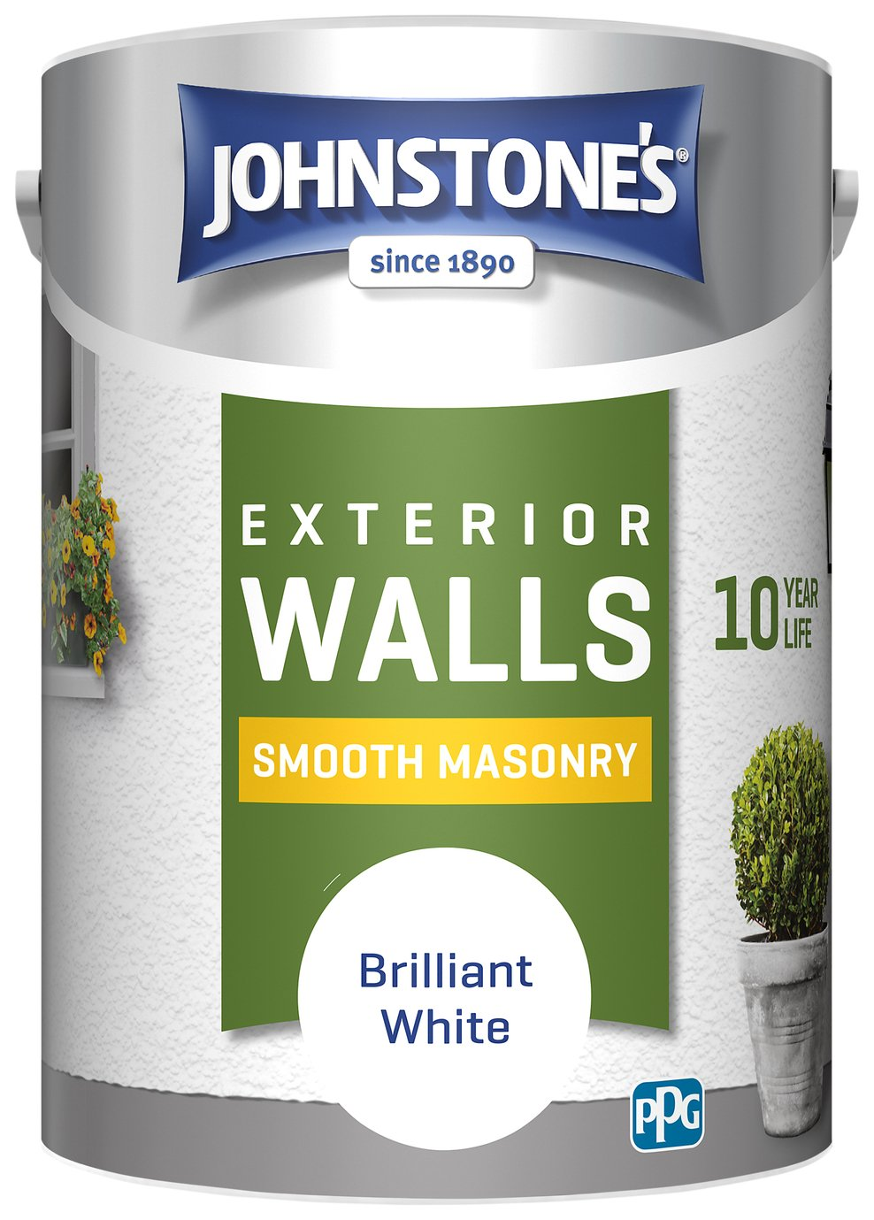 Johnstones Masonry Paint 5L - White