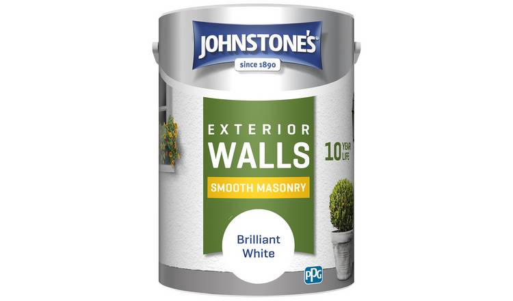 Johnstone's Masonry Paint 5L - White