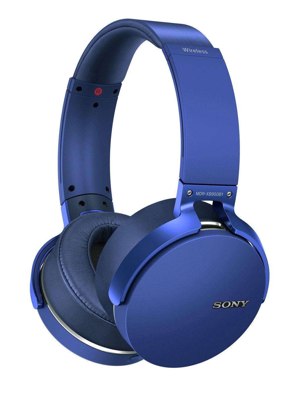 Sony MDR-XB950B1 Over-Ear Wireless Headphones - Blue