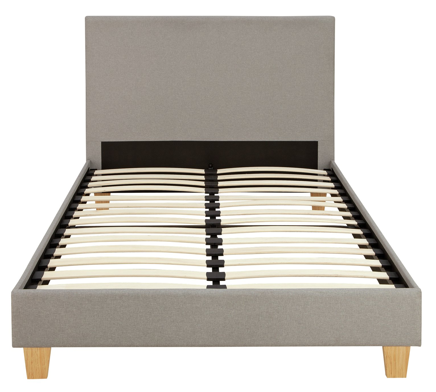 Argos Home Oliver Grey Small Double Fabric Bed in a Box