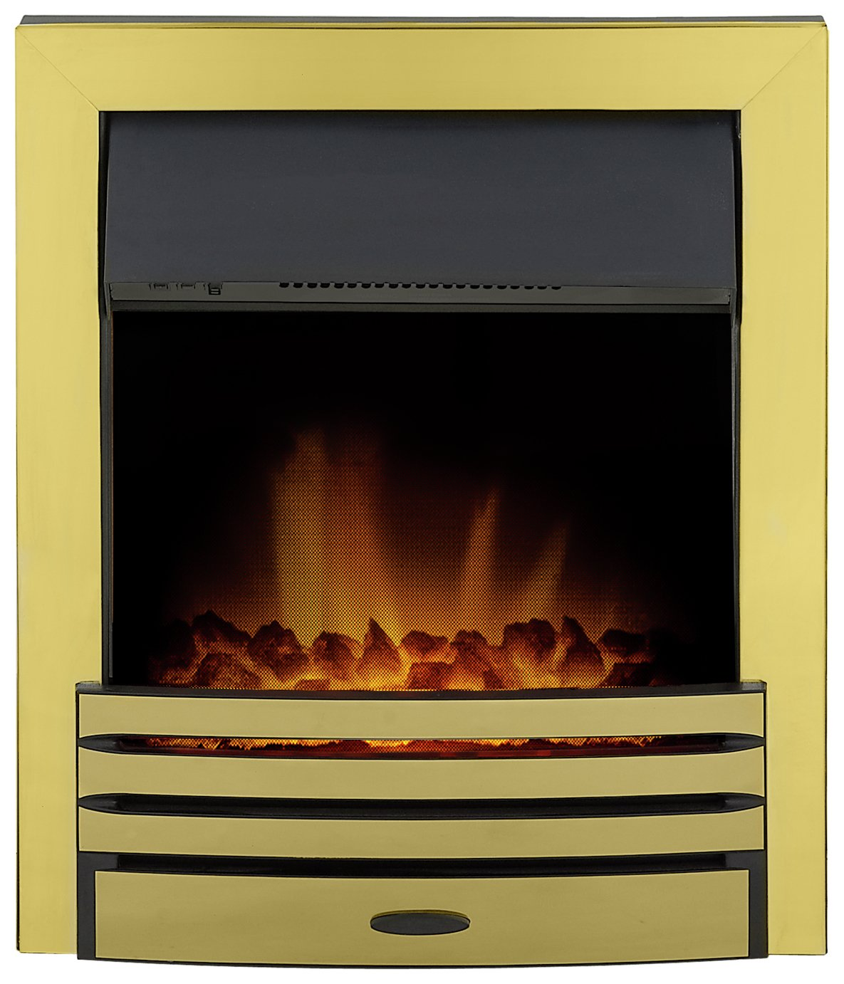 Adam Eclipse 2kW Electric Inset Fire - Brass