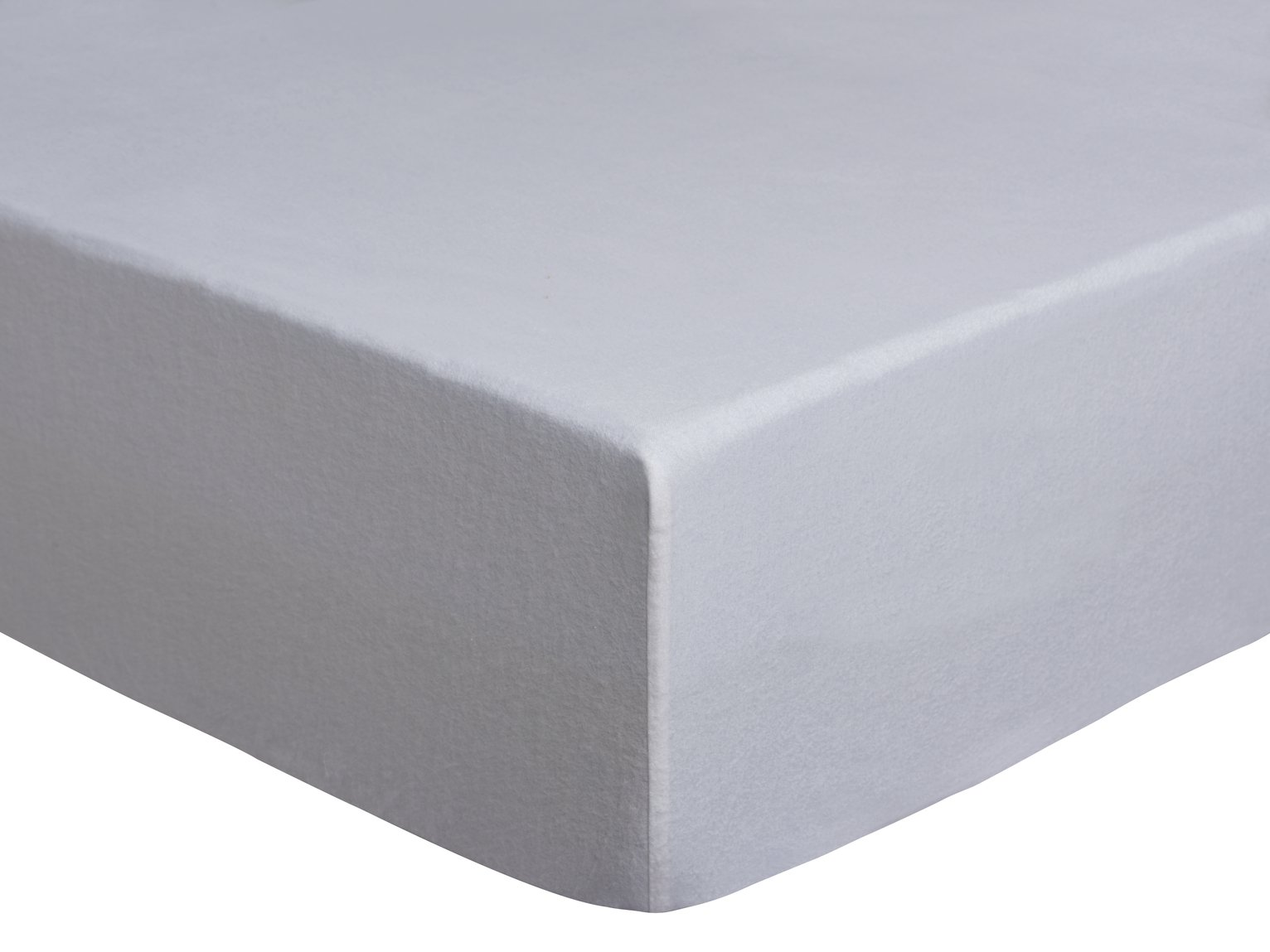 Argos Home White Brushed Cotton Fitted Sheet - Double