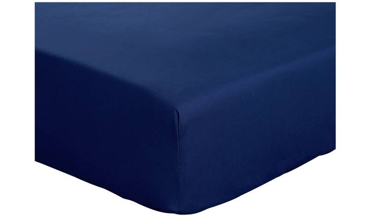Argos Home Cotton Rich 28cm Fitted Sheet - Single