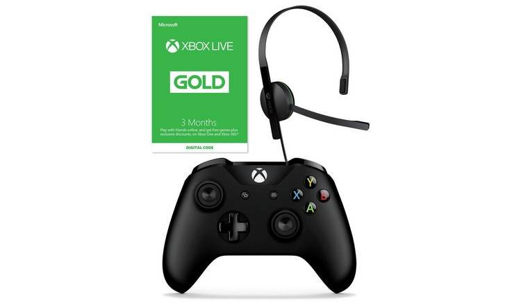 Xbox One Controller, Headset & 3 Months Live Starter Bundle