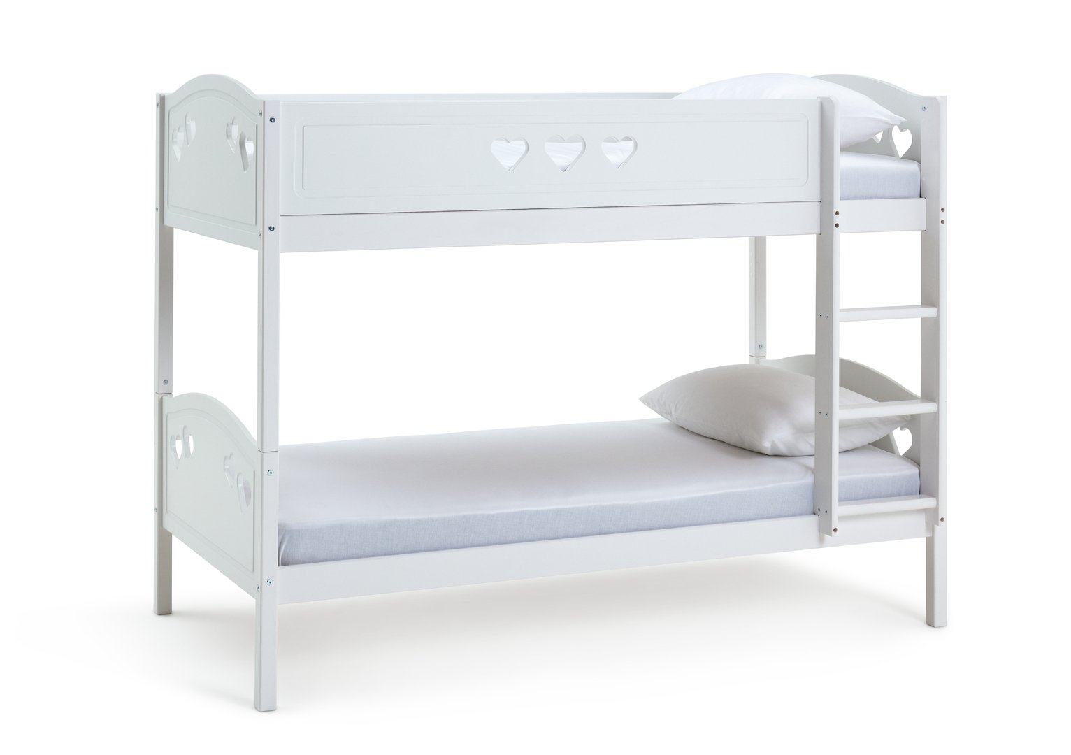 Argos Home Mia White Single Bunk Bed & 2 Kids Mattresses