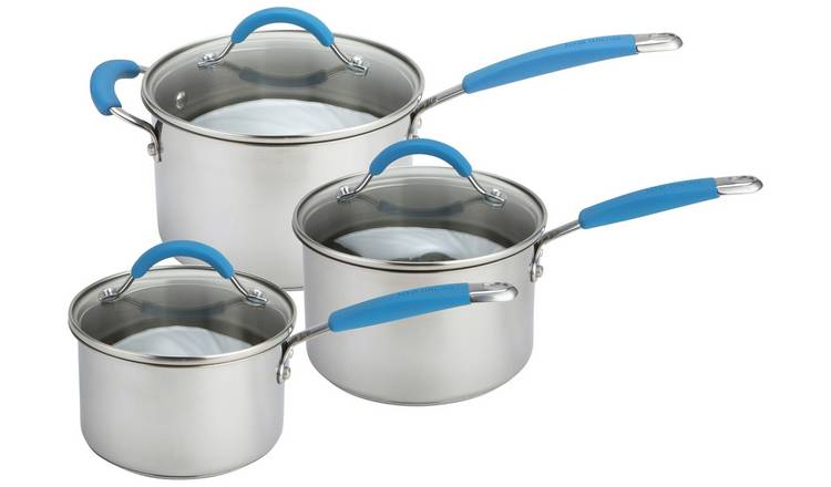 Joe Wicks Quick and Even Stainless Steel 3 Piece Pan Set