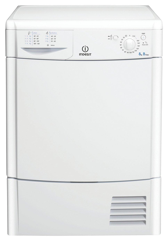 Indesit IDC8T3B 8KG Condenser Tumble Dryer - White