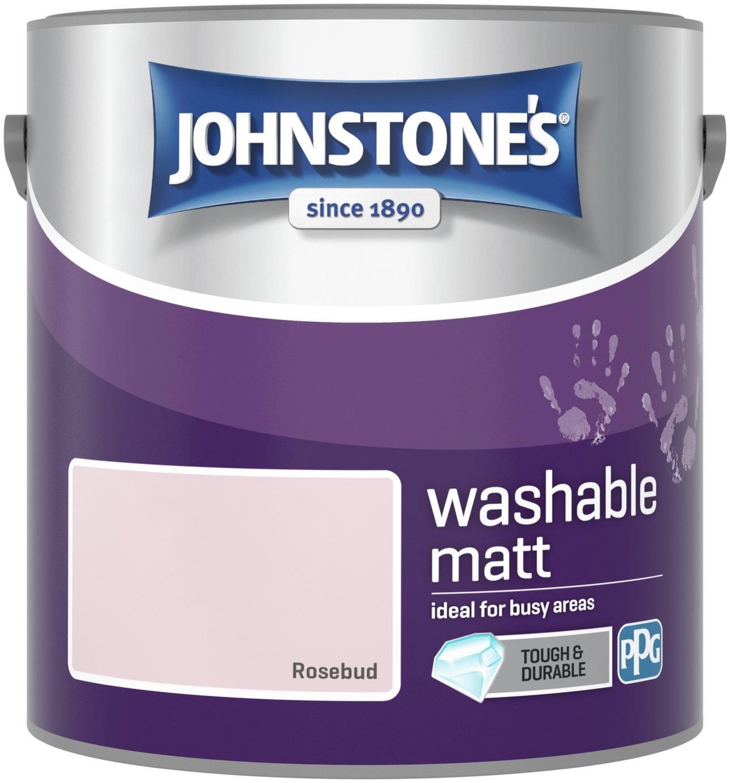 Johnstone's Washable Matt Emulsion Paint 2.5 Litre - Rosebud