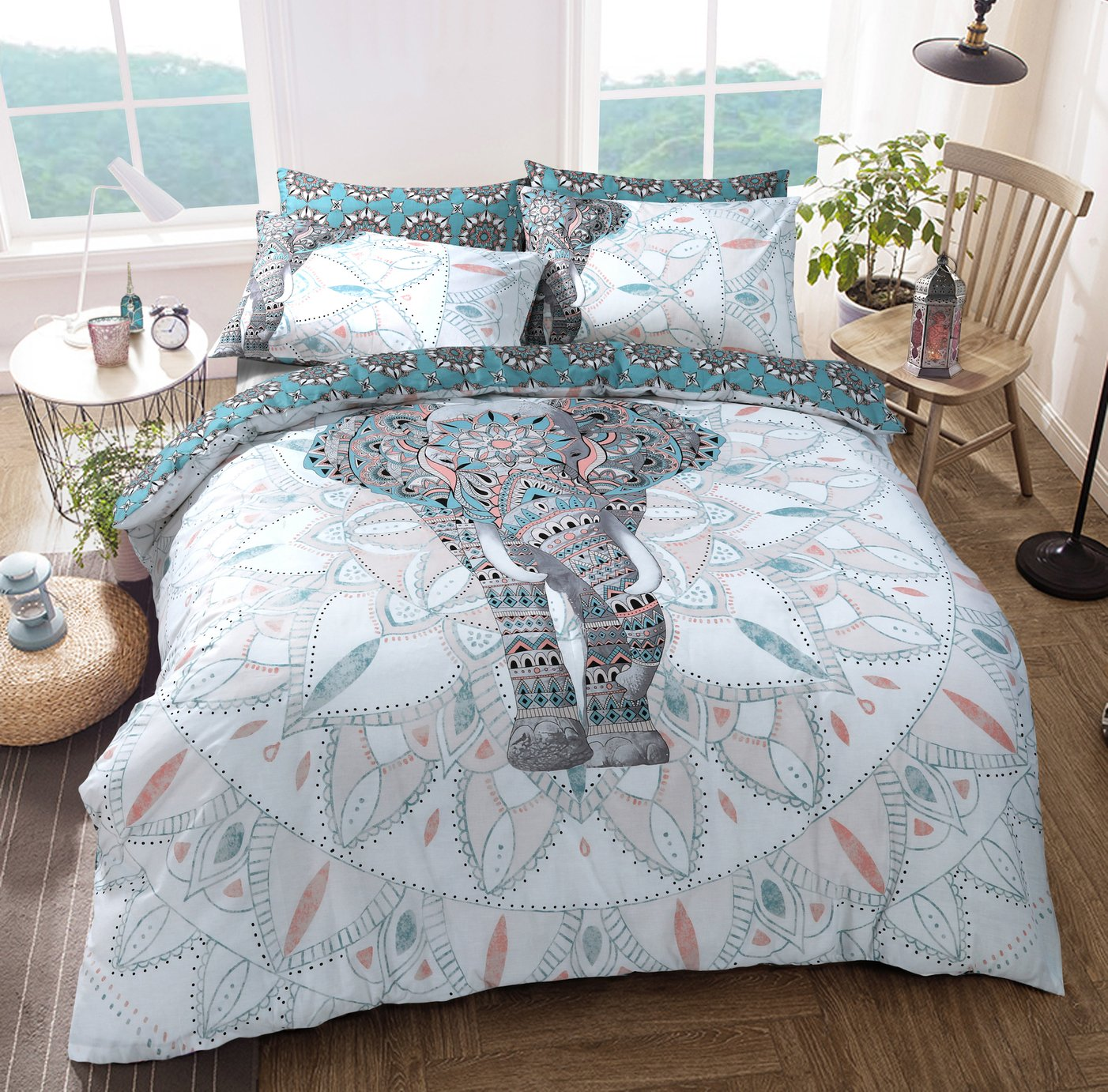 Argos Home Elephant Mandala Bedding Set - Kingsize
