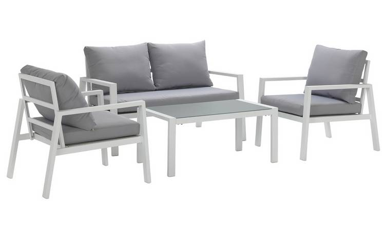 Prime Buy Argos Home Sitges Aluminium 4 Seater Sofa Set Light Grey Patio Sets Argos Theyellowbook Wood Chair Design Ideas Theyellowbookinfo