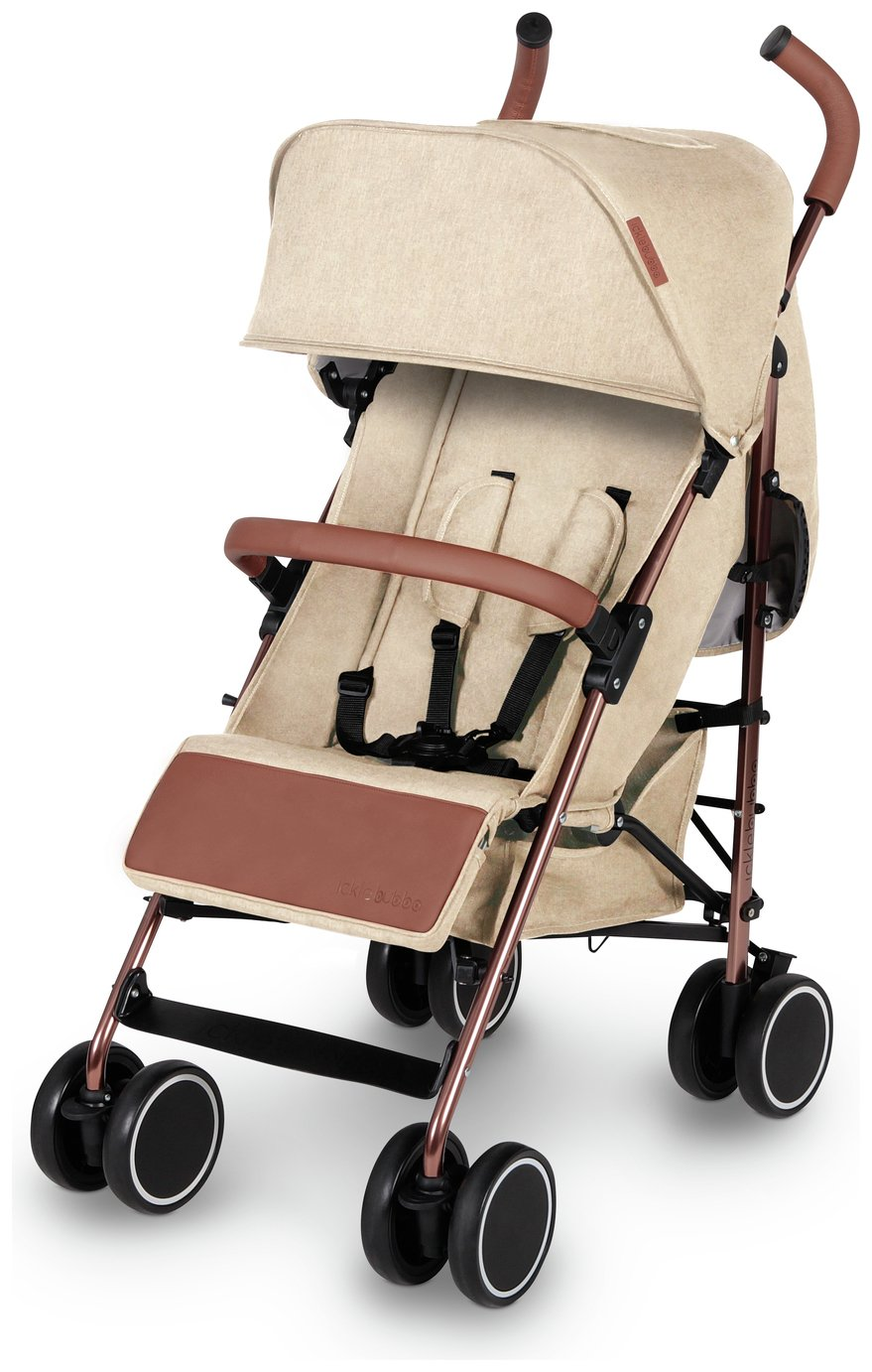Ickle Bubba Discovery Stroller - Cream on Rose Gold