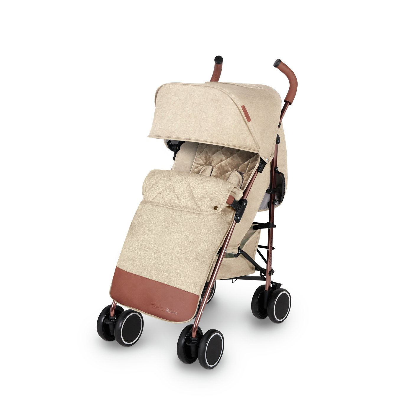 Ickle Bubba Discovery Max Stroller - Cream Rose Gold