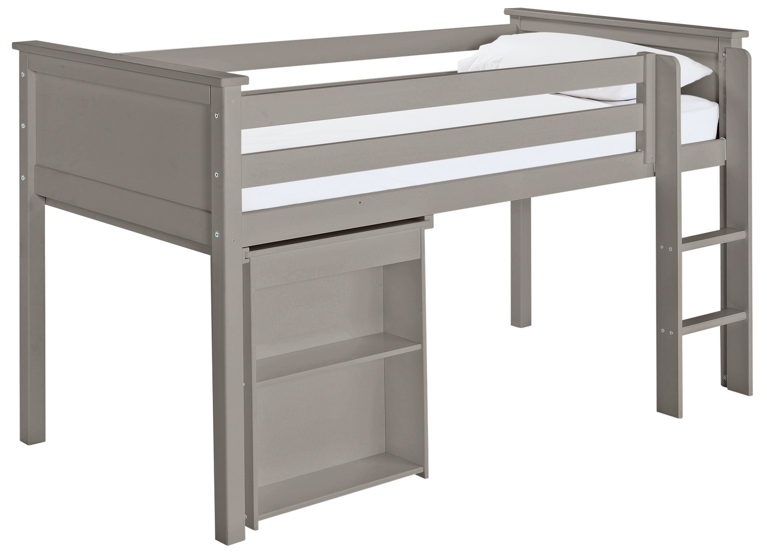 Argos Home Brooklyn Grey Mid Sleeper with Desk