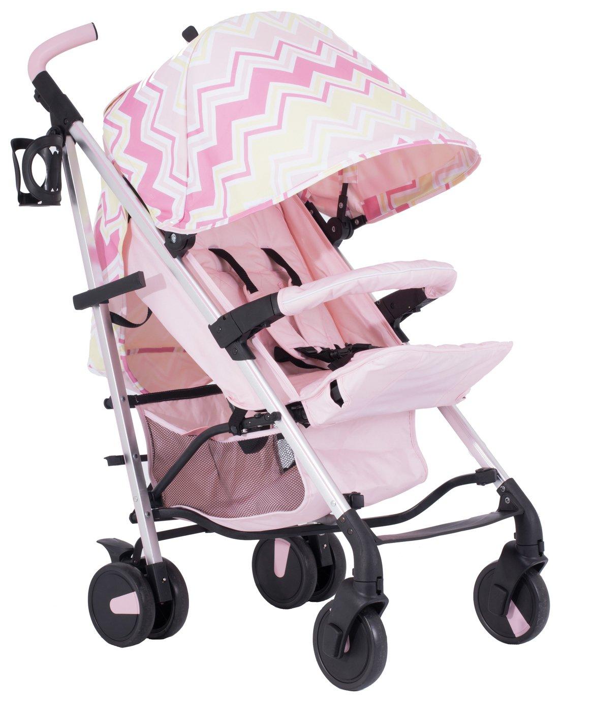 My Babiie Sam Faiers MB51 Stroller - Pink Chevron