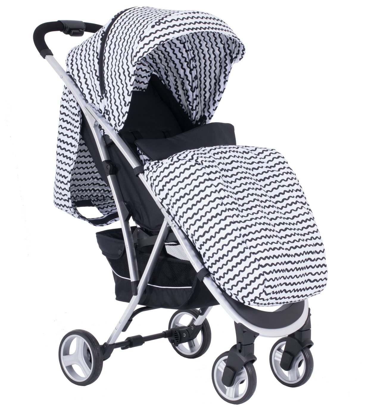 My Babiie Sam Faiers MBX6 Pushchair - Black and White Wave
