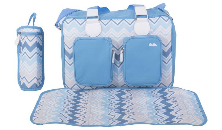 e486691017c90 Buy My Babiie Sam Faiers Deluxe Changing Bag - Blue Chevron ...