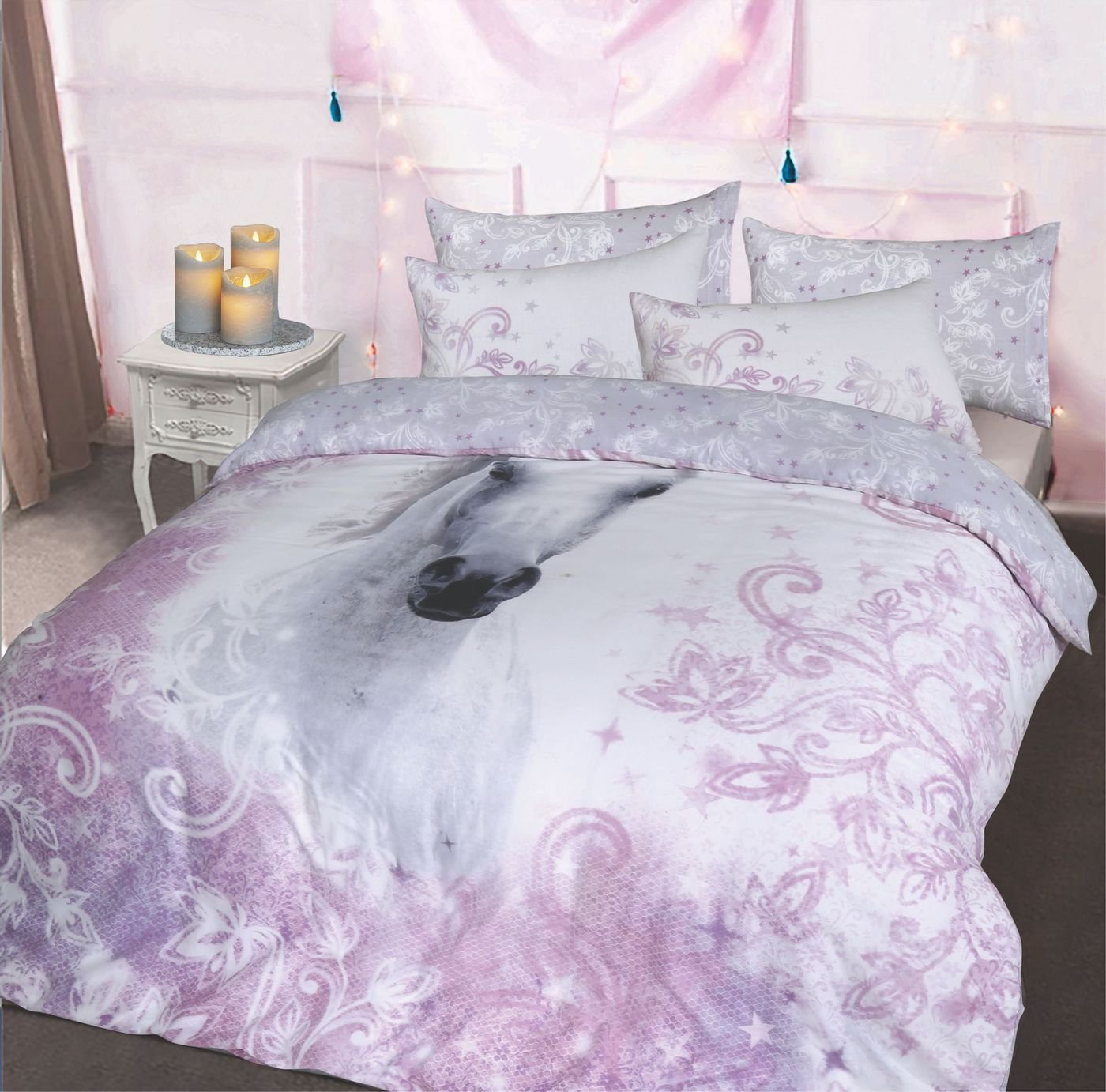 Argos Home Pretty Unicorn Bedding Set - Kingsize