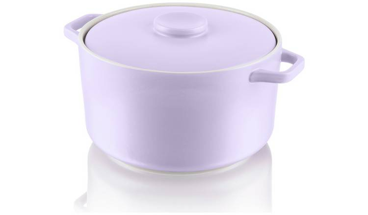 Fearne by Swan Large Round Casserole Dish - Lilac