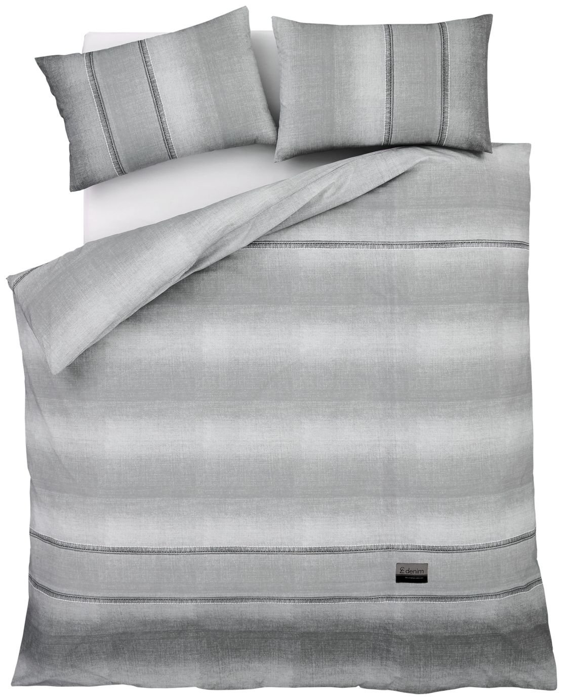 Catherine Lansfield Denim Grey Bedding Set – Double