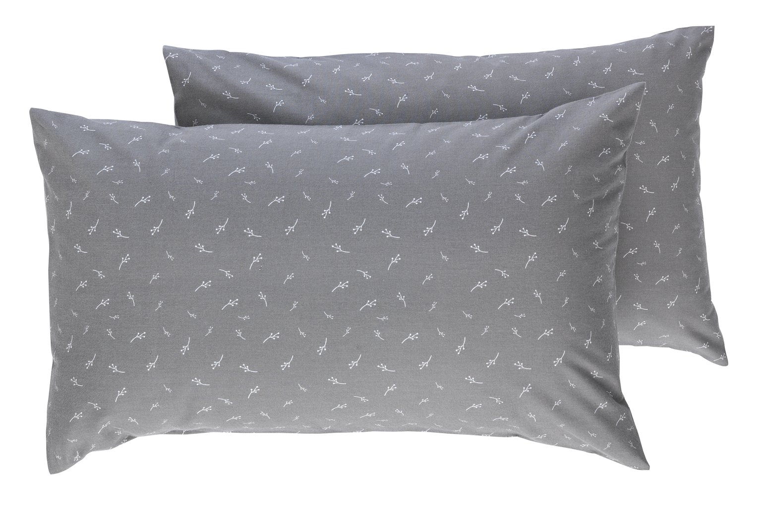 Argos Home Pair of Leaf Brushed Cotton Housewife Pillowcases